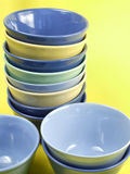 Colorful kitchen bowls Stock Photo