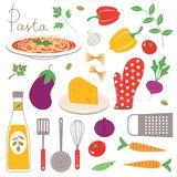 Colorful kitchen collection Royalty Free Stock Images