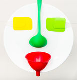Colorful kitchen face Royalty Free Stock Images