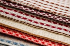 Colorful Kitchen Napkins Stock Images
