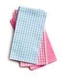 Colorful kitchen napkins Stock Photos