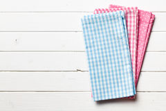 Colorful kitchen napkins Stock Photography
