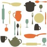 Colorful kitchen pattern. Illustration Stock Photo