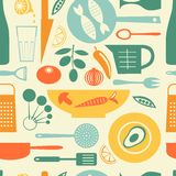 Colorful kitchen pattern Stock Images