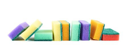 Colorful kitchen sponge composition Royalty Free Stock Photography