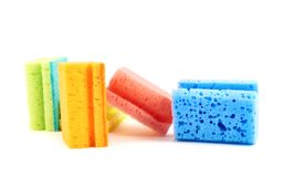 Colorful kitchen sponge composition Stock Photography