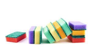 Colorful kitchen sponge composition Royalty Free Stock Image