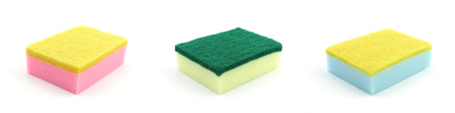 Colorful kitchen sponges Stock Photos