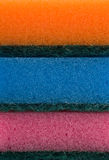 Colorful kitchen sponges closeup Royalty Free Stock Images