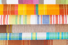 Colorful kitchen towels Royalty Free Stock Photos
