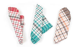 Colorful kitchen towels Stock Images