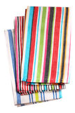 Colorful kitchen towels isolated on white background Royalty Free Stock Image