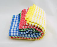 Colorful of kitchen towels Stock Image