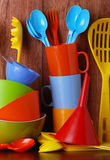 Colorful kitchenware Royalty Free Stock Photo