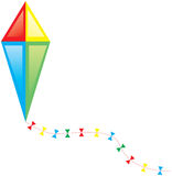 Colorful kite. Vector illustration of colorful flying kite Royalty Free Stock Image