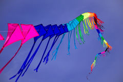 Colorful Kite. In the sky Royalty Free Stock Photography