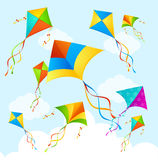Colorful Kite Background. Vector Royalty Free Stock Photography