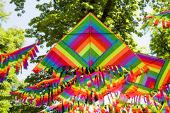 Colorful kite decoration Stock Images