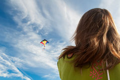 Colorful kite flying Stock Images