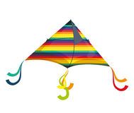 Colorful kite Flying with rainbow colors, Stock Photography