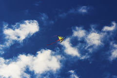 Colorful kite flying in the sky Stock Images