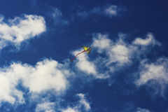Colorful kite flying in the sky Royalty Free Stock Photo