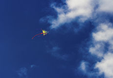 Colorful kite flying in the sky Royalty Free Stock Image