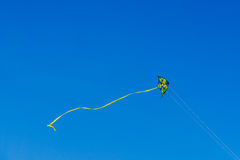 Colorful Kite Flying On Summer Blue Sky Royalty Free Stock Images