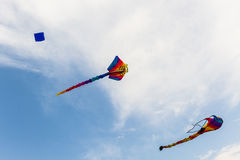 Colorful of kite flying. Stock Photos