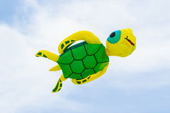 Colorful of kite flying in the wind. Royalty Free Stock Image