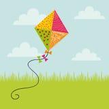 Colorful kite icon Royalty Free Stock Photo