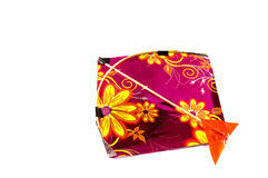 Colorful kite isolated on white Royalty Free Stock Photos