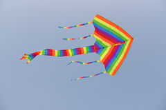 Colorful Kite With long Tails Stock Images
