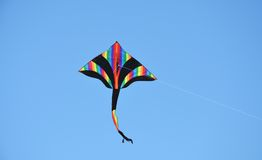 Colorful kite on the sky Royalty Free Stock Photos