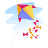 Colorful Kite. Vector Illustration of a colorful Kite Royalty Free Stock Images