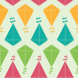 Colorful kite vector seamless pattern Royalty Free Stock Image