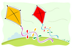Colorful kites Stock Photo