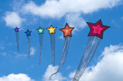 Colorful kites Royalty Free Stock Image