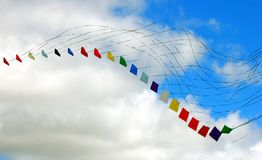 Colorful kites Stock Image