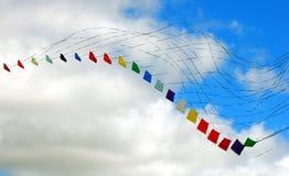 Colorful kites. Multi colored stacked kites taken at kitefest in Toronto, Ontario, Canada Stock Image