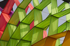 Colorful kites flying in the sky Stock Photos