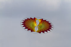 Colorful kites flying in the sky Royalty Free Stock Image