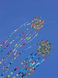 Colorful Kites Riding the Breeze Stock Photos