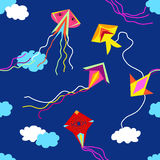 Colorful kites in the sky. Stock Photography