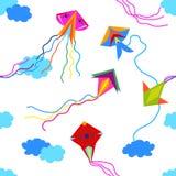 Colorful kites in the sky. Stock Image