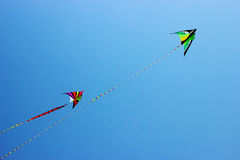 Colorful kites in the sky Royalty Free Stock Images