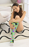 Colorful Knee Socks Royalty Free Stock Images