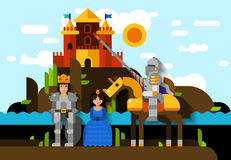 Colorful Knight Poster Royalty Free Stock Photo