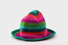 Colorful knit hat Stock Images