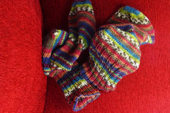 Colorful knit socks Royalty Free Stock Photography